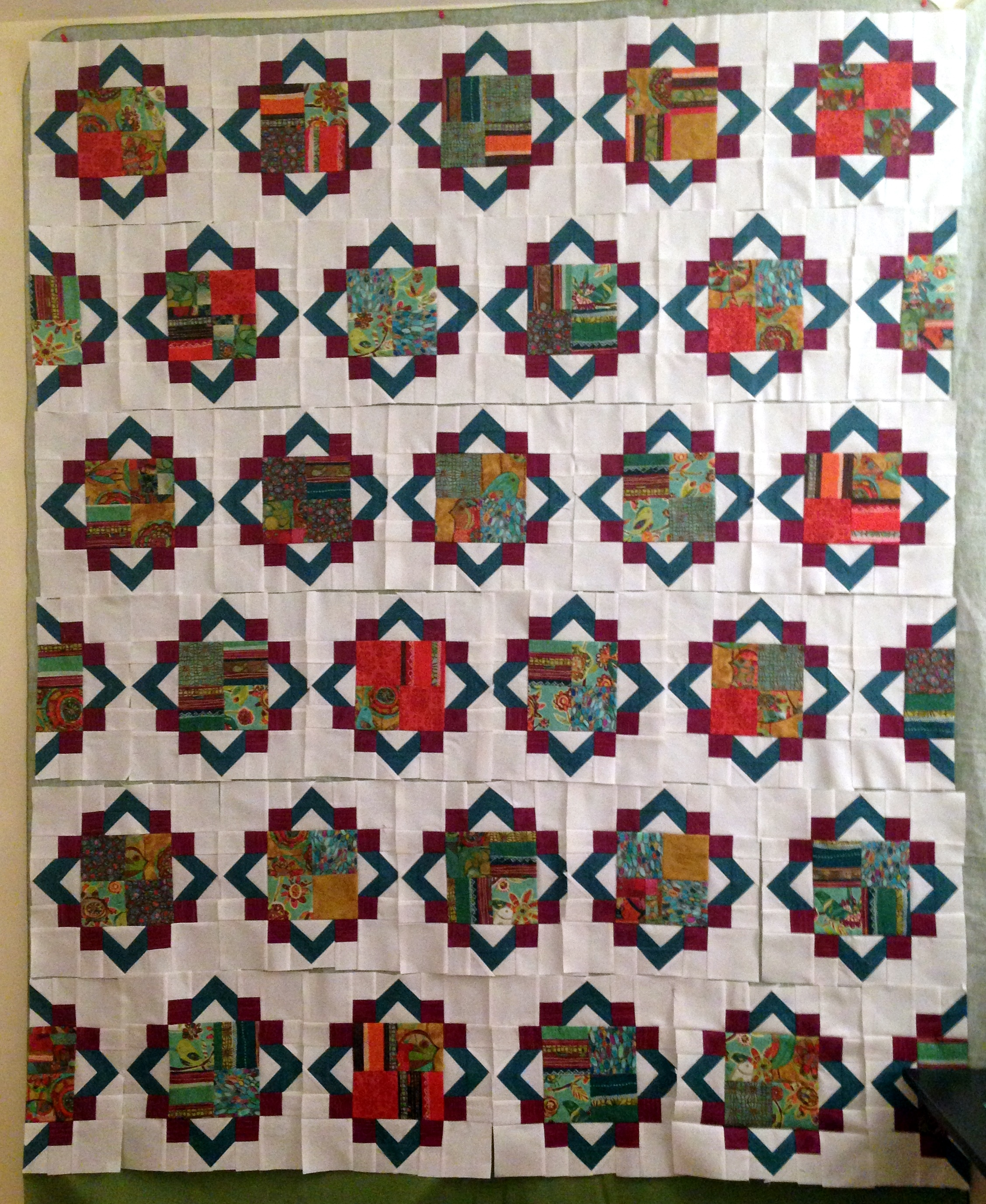 Cathedral window wasn 39 t quilt in a day for Window quilt